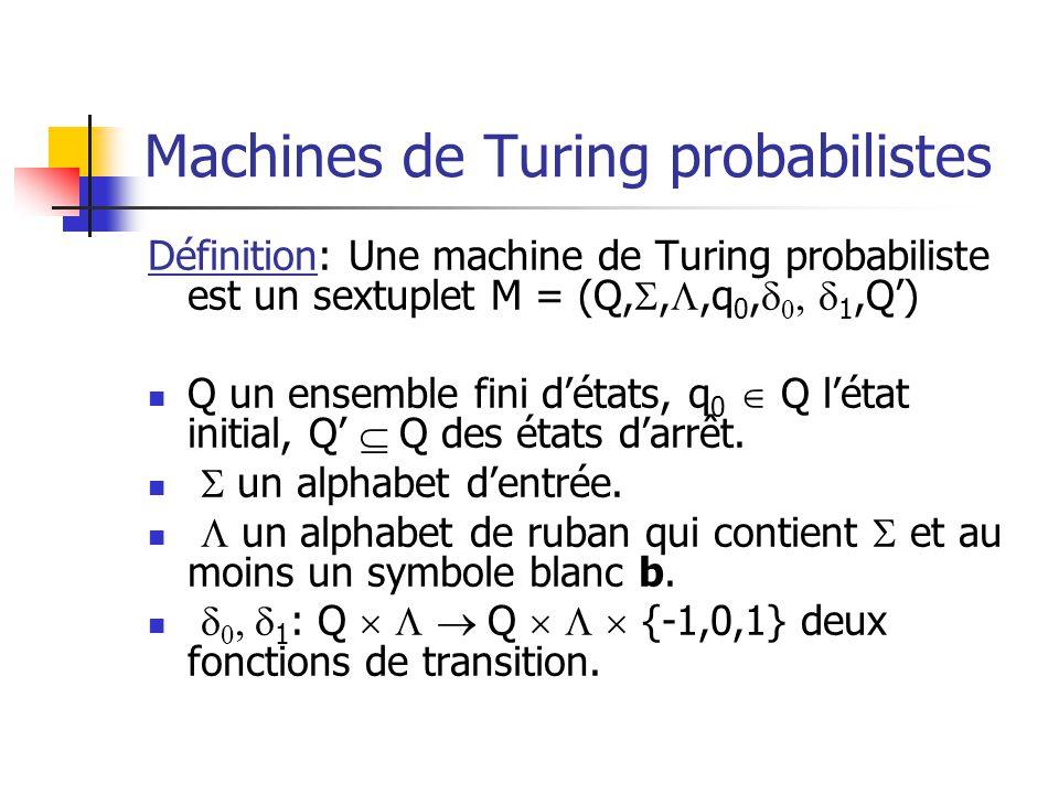 Machines de Turing probabilistes