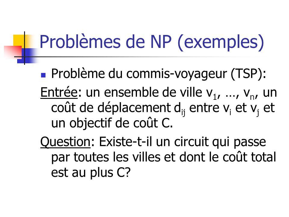 Problèmes de NP (exemples)
