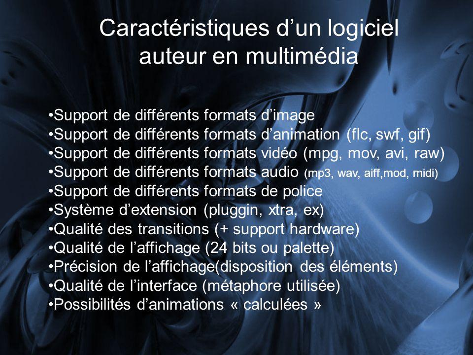 Caractéristiques d'un logiciel auteur en multimédia