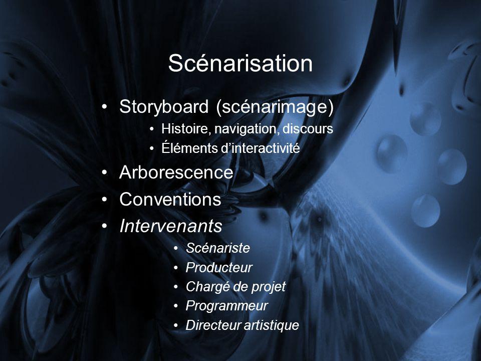 Scénarisation Storyboard (scénarimage) Arborescence Conventions