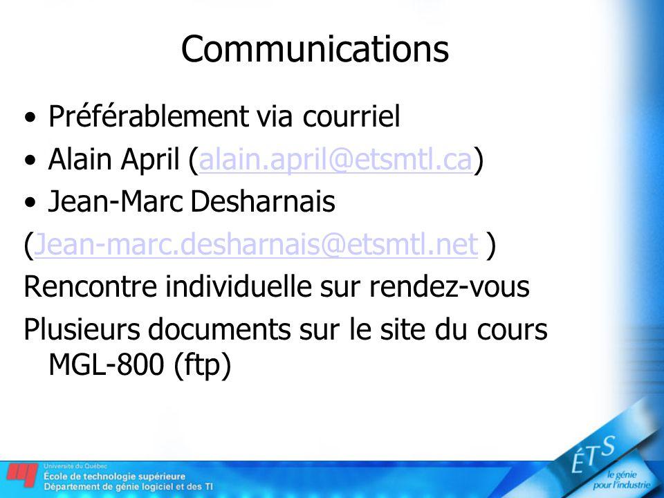 Communications Préférablement via courriel