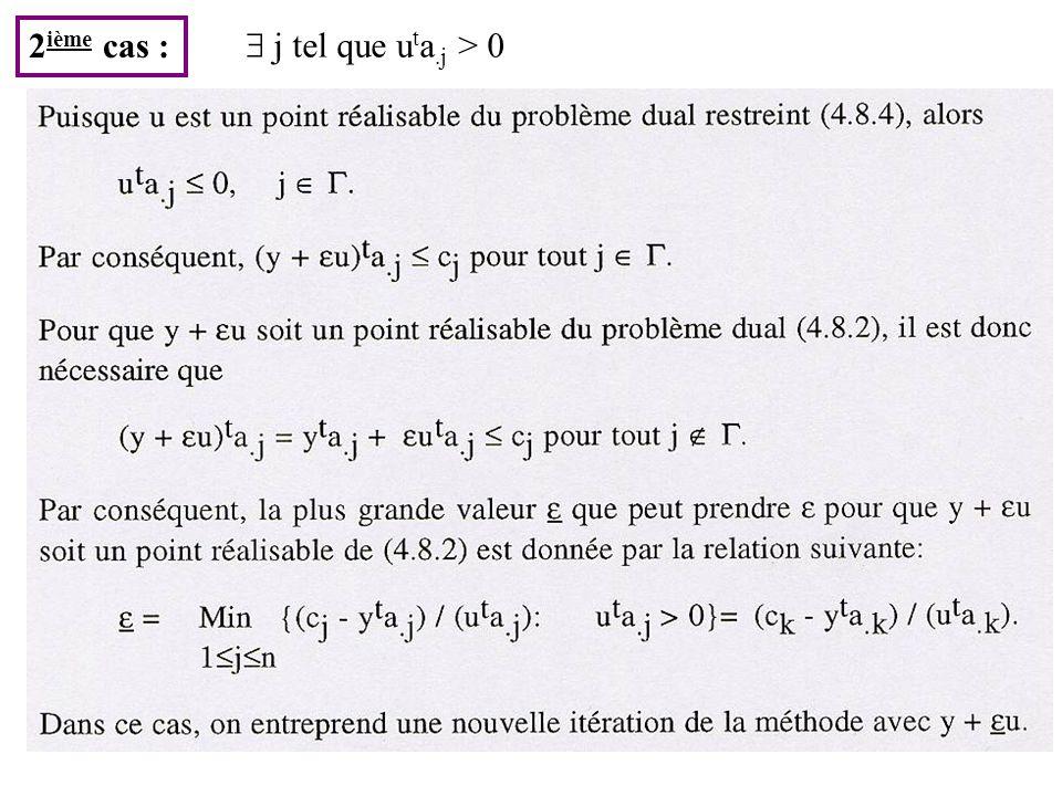 2ième cas :  j tel que uta.j > 0