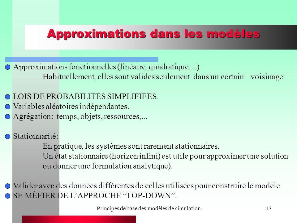 Approximations dans les modèles