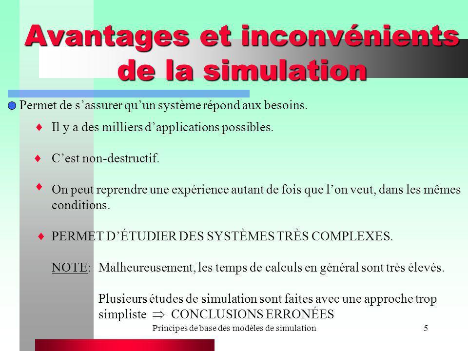 Avantages et inconvénients de la simulation
