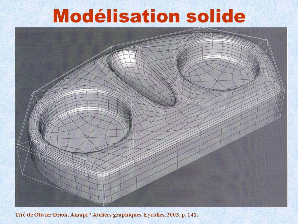 Modélisation solide Tiré de Olivier Drion, Amapi 7 Ateliers graphiques. Eyrolles, 2003, p. 141.
