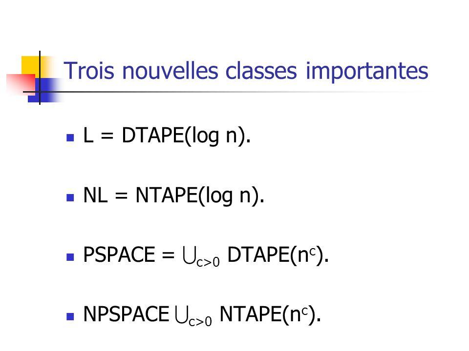 Trois nouvelles classes importantes