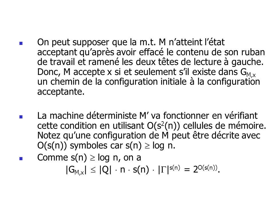 |GM,x|  |Q|  n  s(n)  ||s(n) = 2O(s(n)).