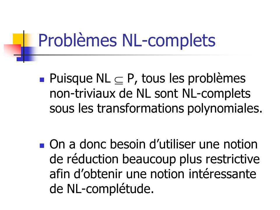 Problèmes NL-complets