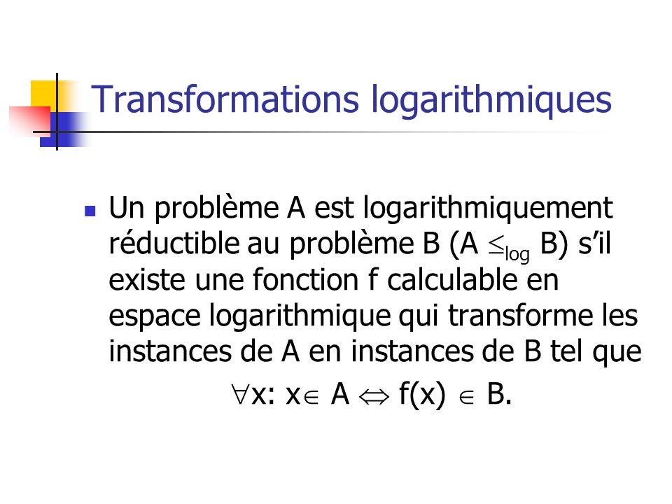 Transformations logarithmiques