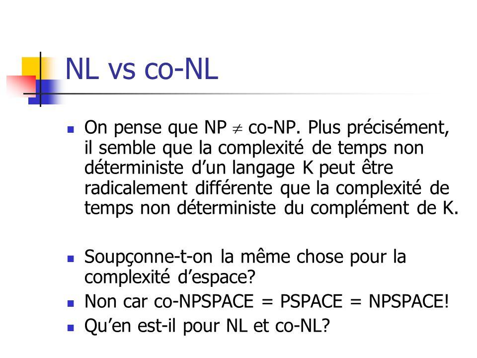 NL vs co-NL