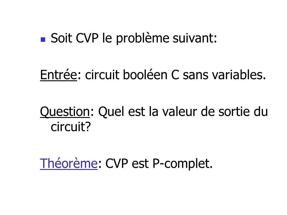 Soit CVP le problème suivant: