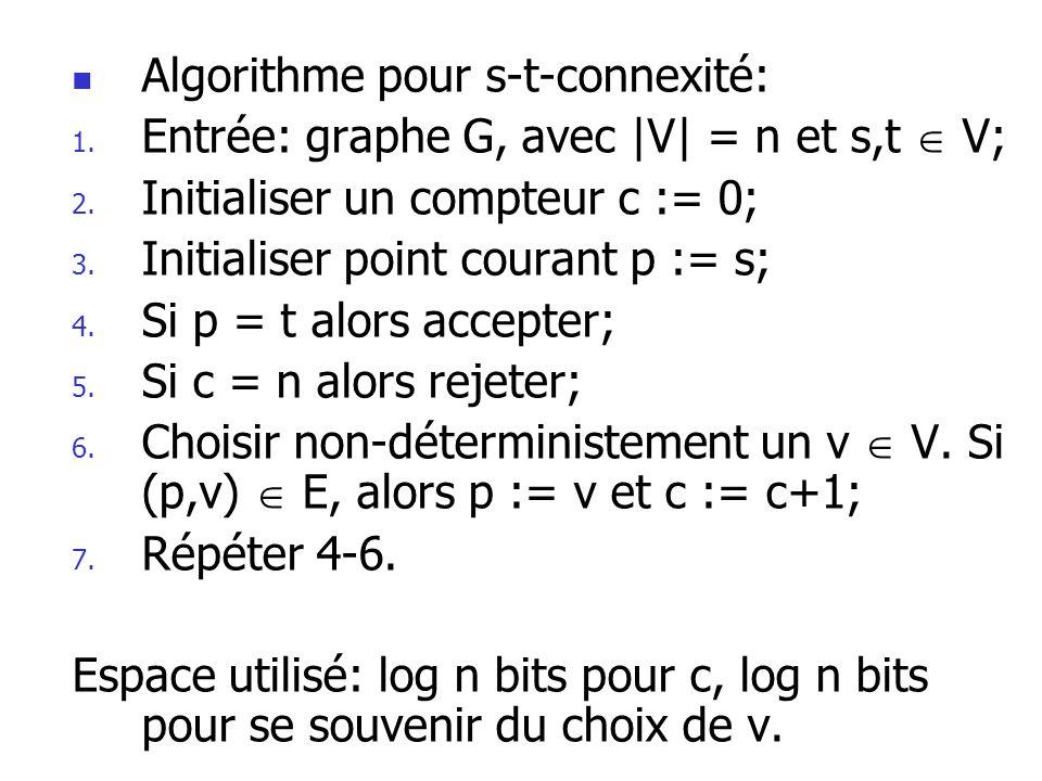 Algorithme pour s-t-connexité: