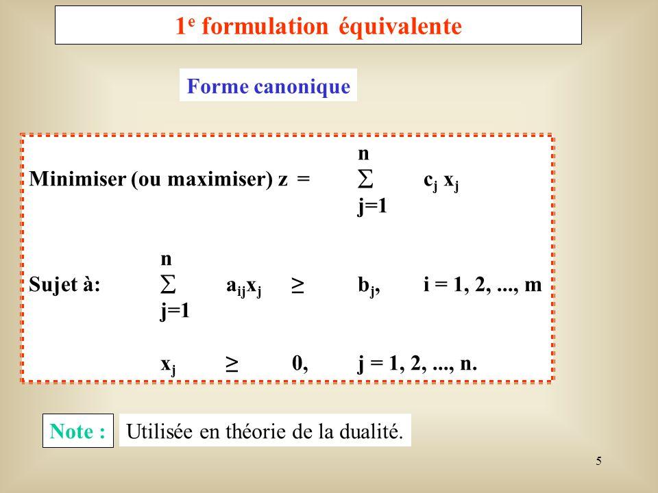 1e formulation équivalente