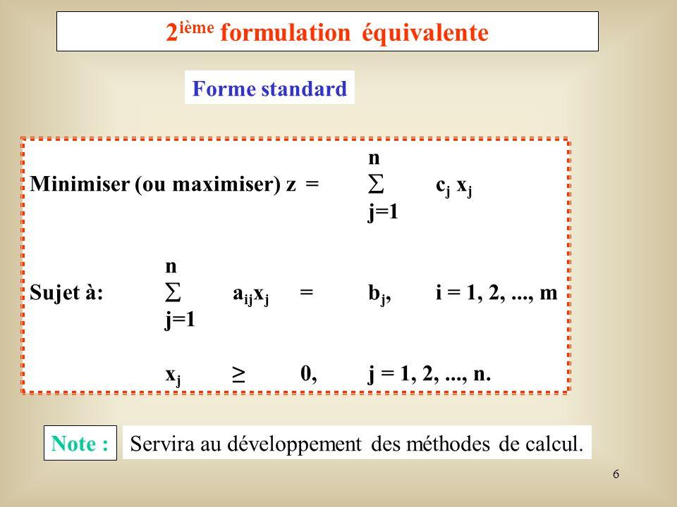 2ième formulation équivalente