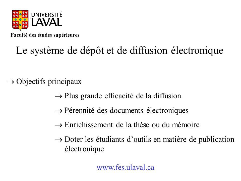 Le système de dépôt et de diffusion électronique