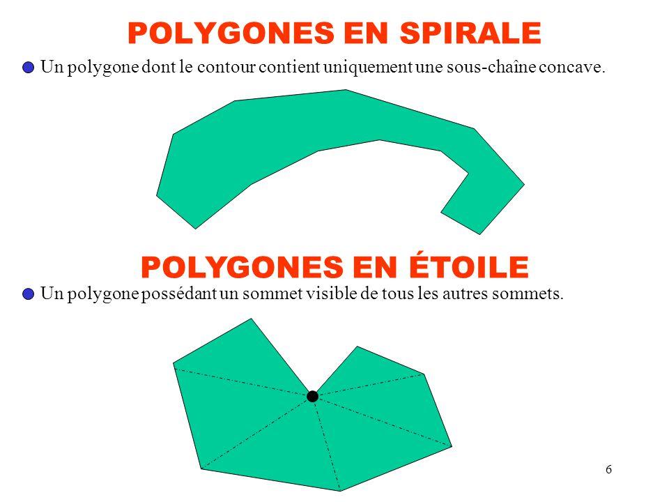 POLYGONES EN SPIRALE POLYGONES EN ÉTOILE