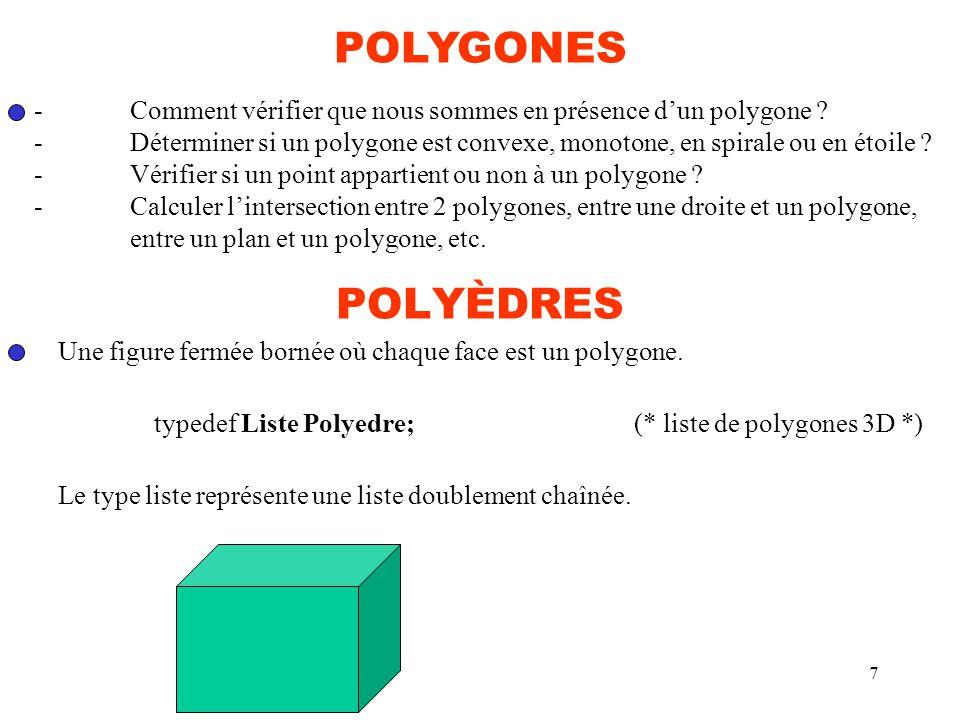 POLYGONES - Comment vérifier que nous sommes en présence d'un polygone