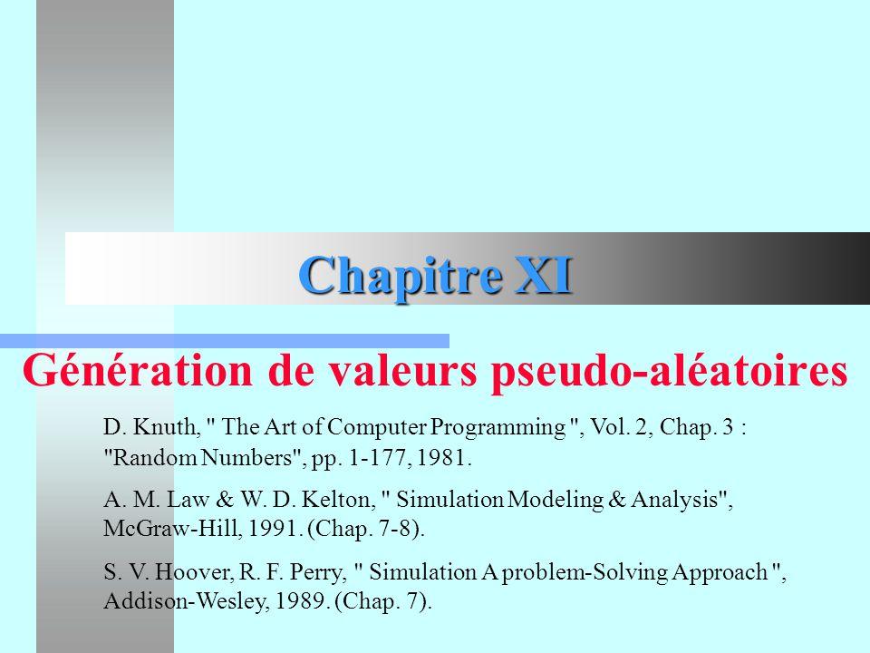 Génération de valeurs pseudo-aléatoires