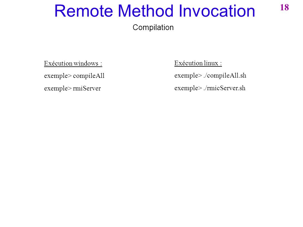 Remote Method Invocation