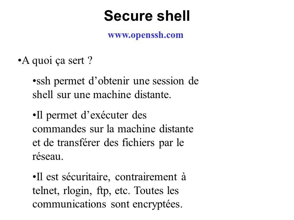 Secure shell A quoi ça sert