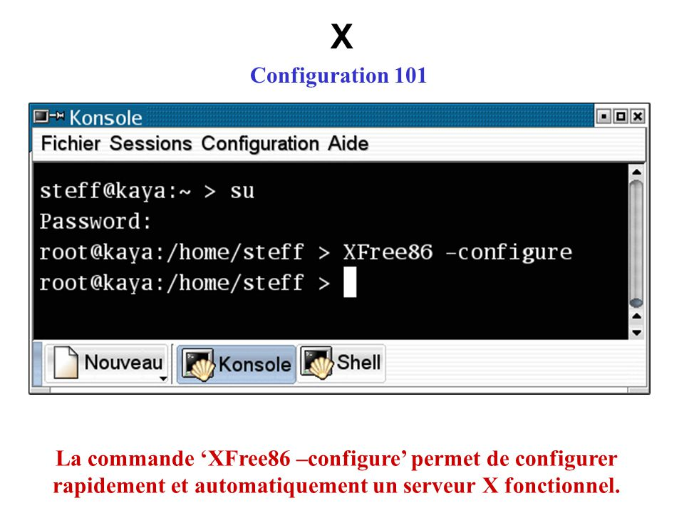 X Configuration 101.