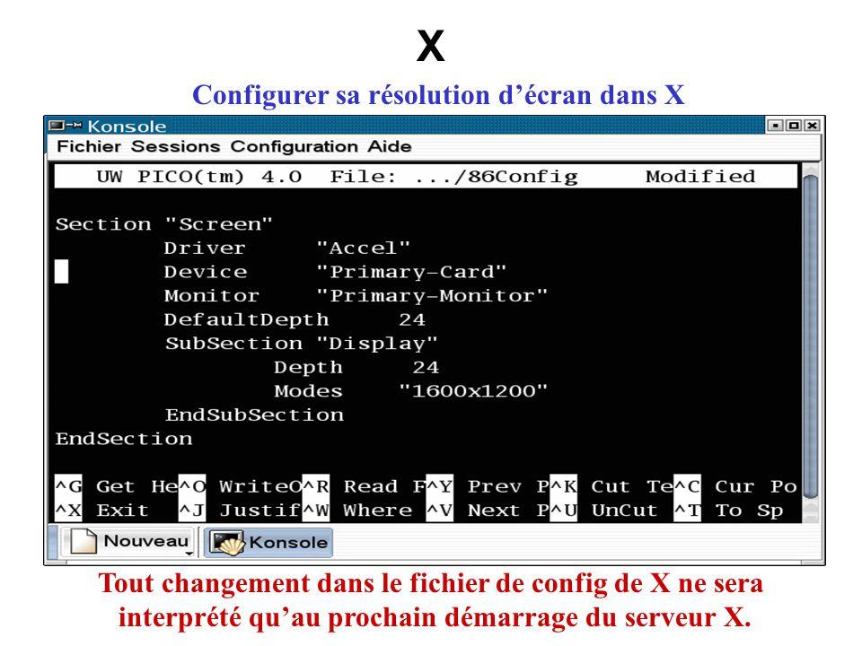 Configurer sa résolution d'écran dans X