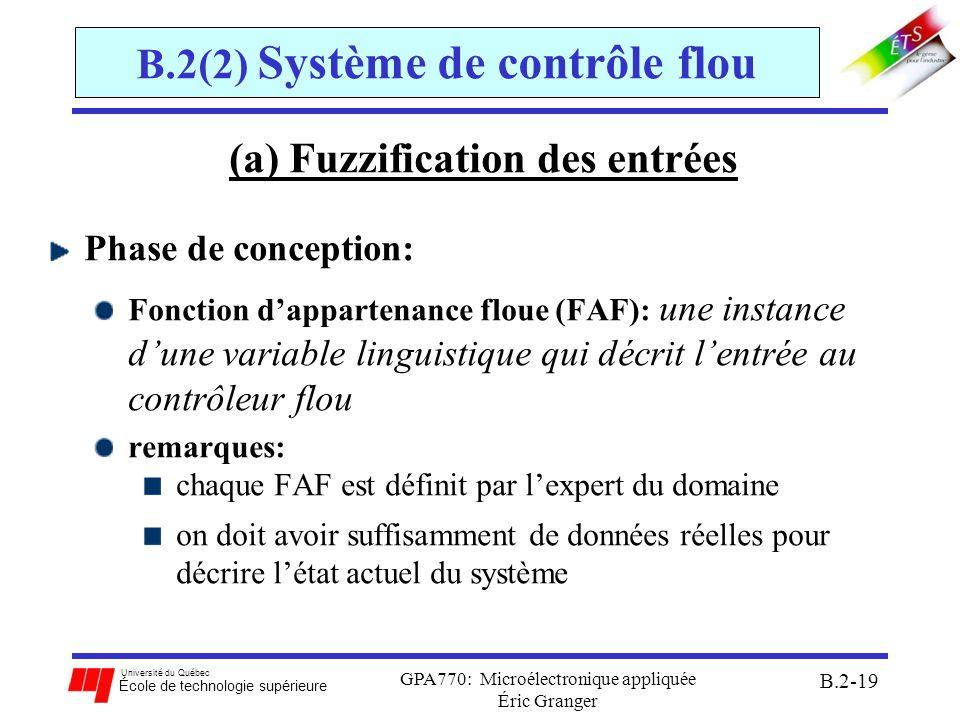 B.2(2) Système de contrôle flou