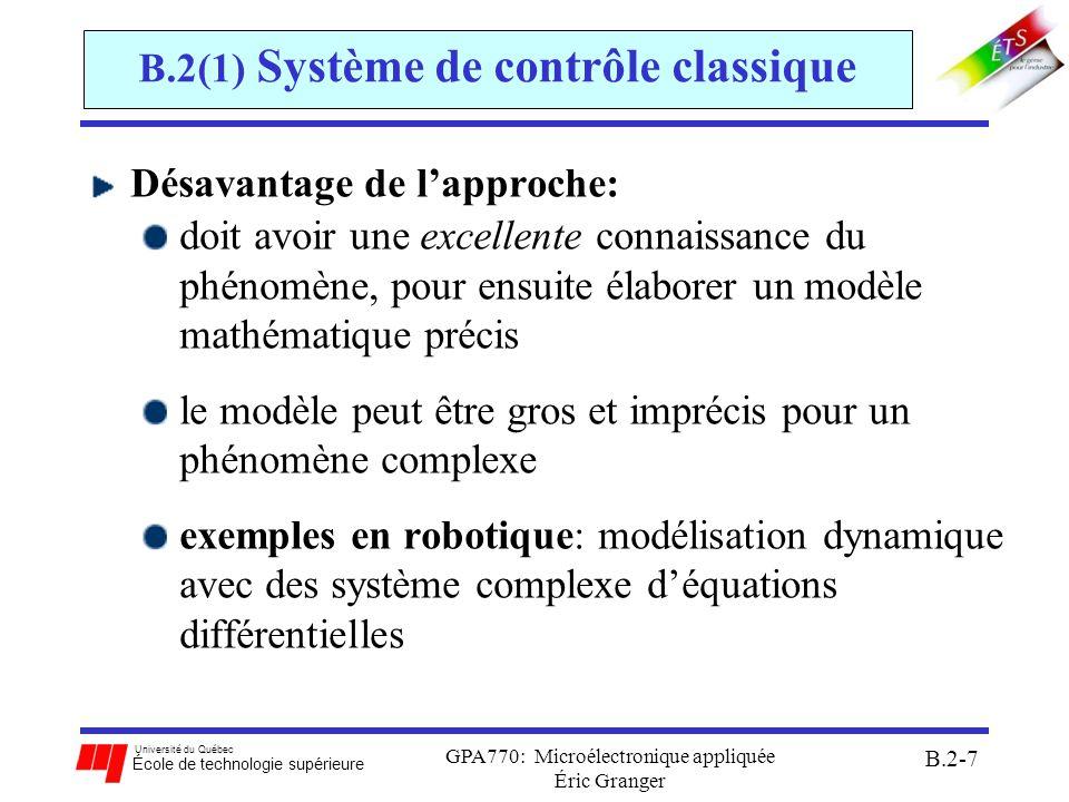 B.2(1) Système de contrôle classique