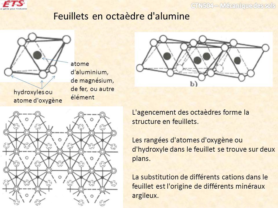 Feuillets en octaèdre d alumine