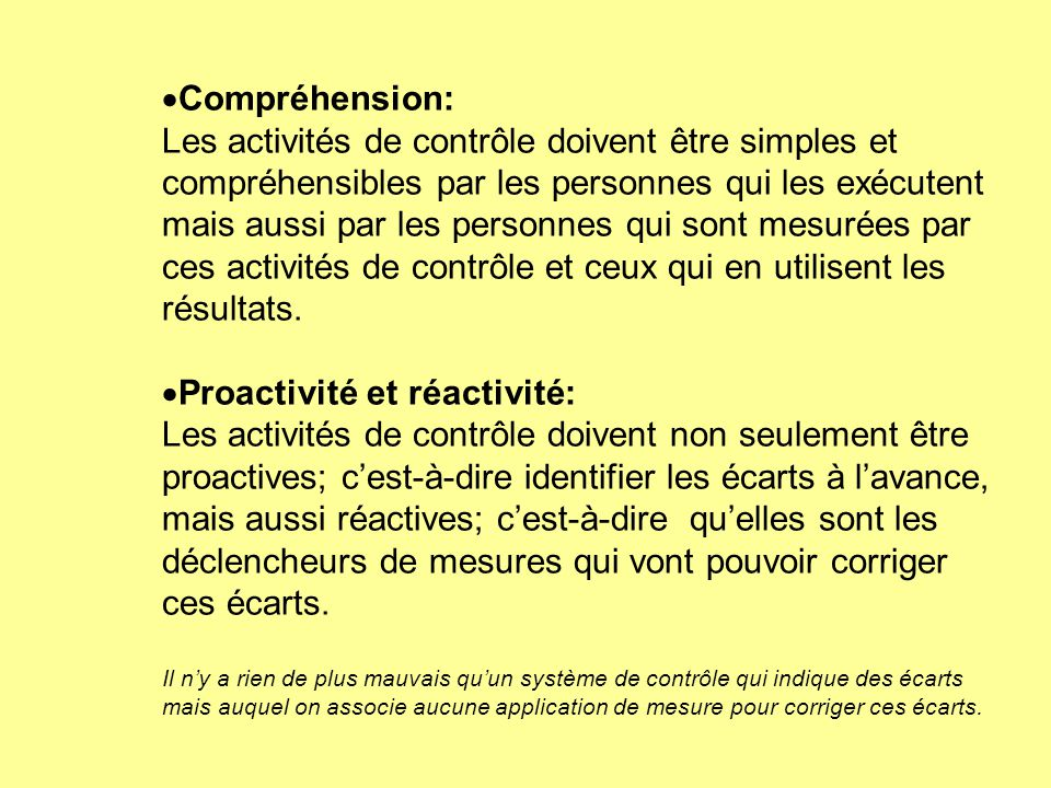 Proactivité et réactivité: