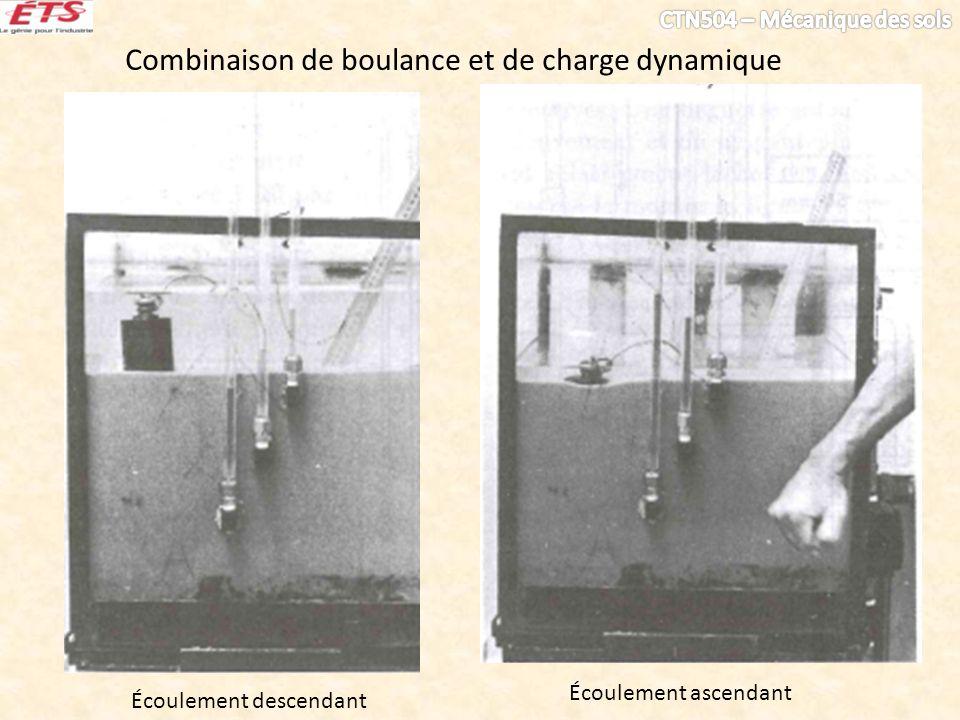 Combinaison de boulance et de charge dynamique