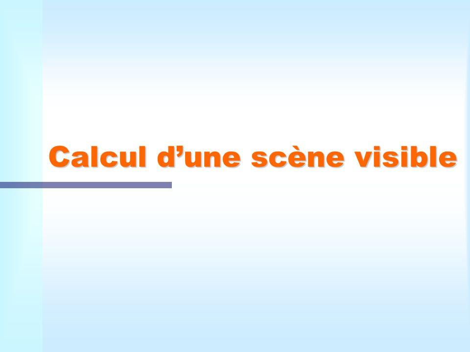 Calcul d'une scène visible