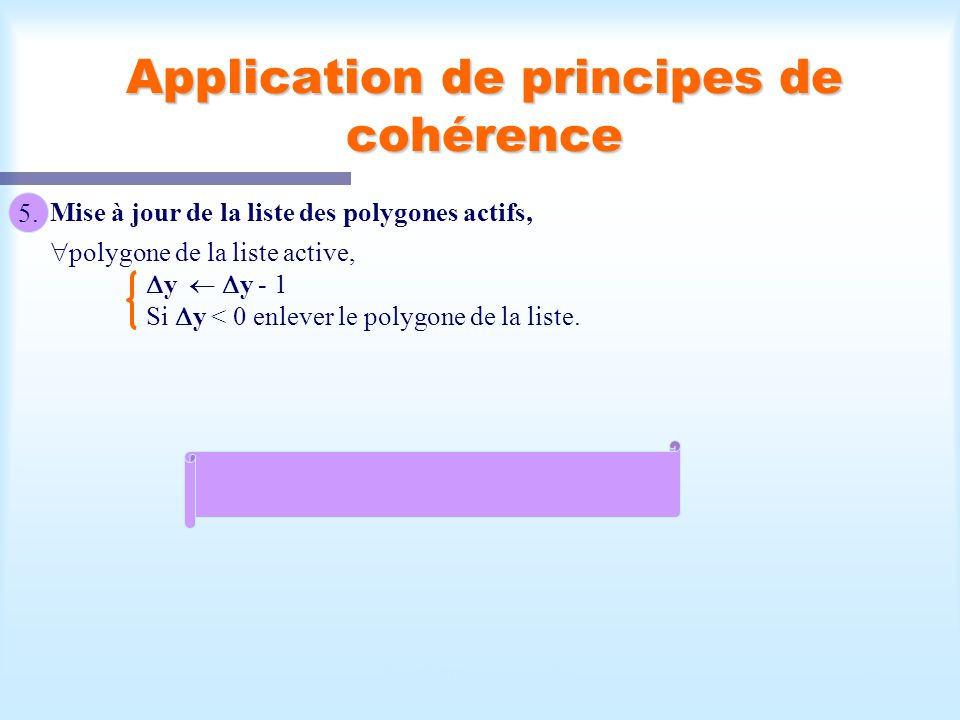 Application de principes de cohérence