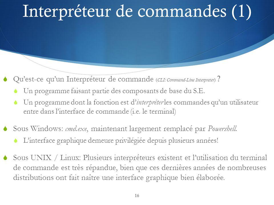Interpréteur de commandes (1)