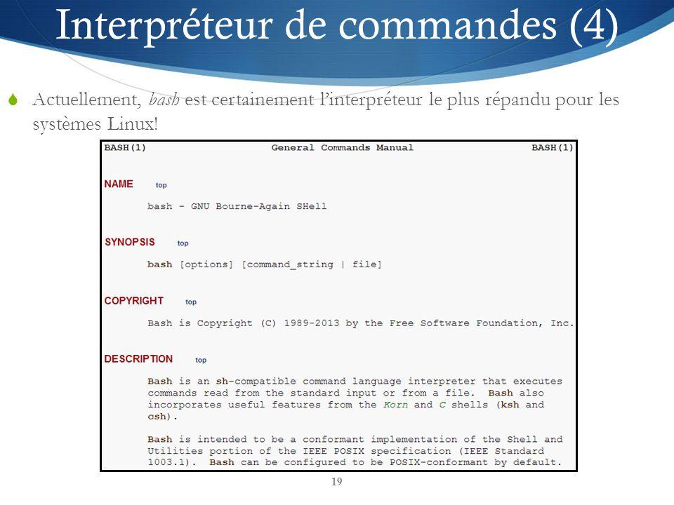 Interpréteur de commandes (4)