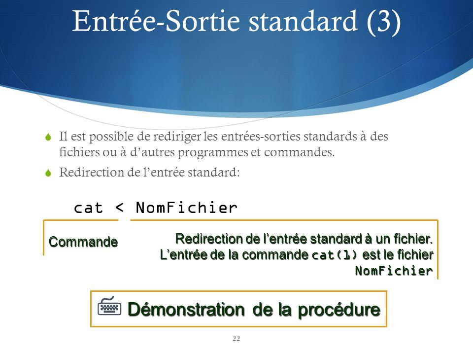 Entrée-Sortie standard (3)