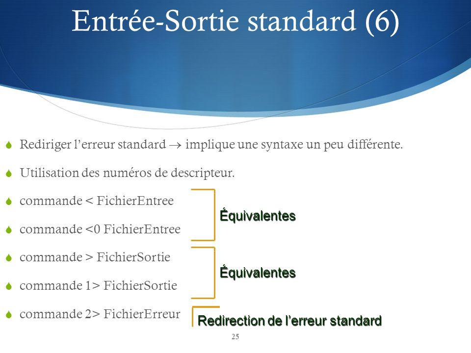 Entrée-Sortie standard (6)