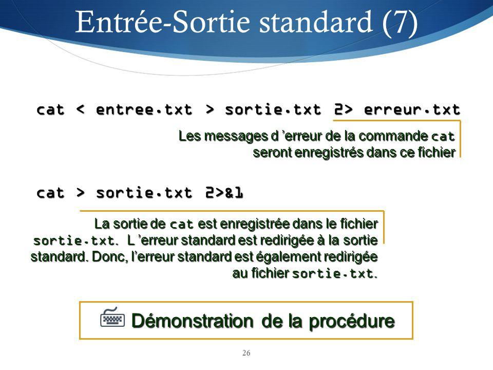 Entrée-Sortie standard (7)