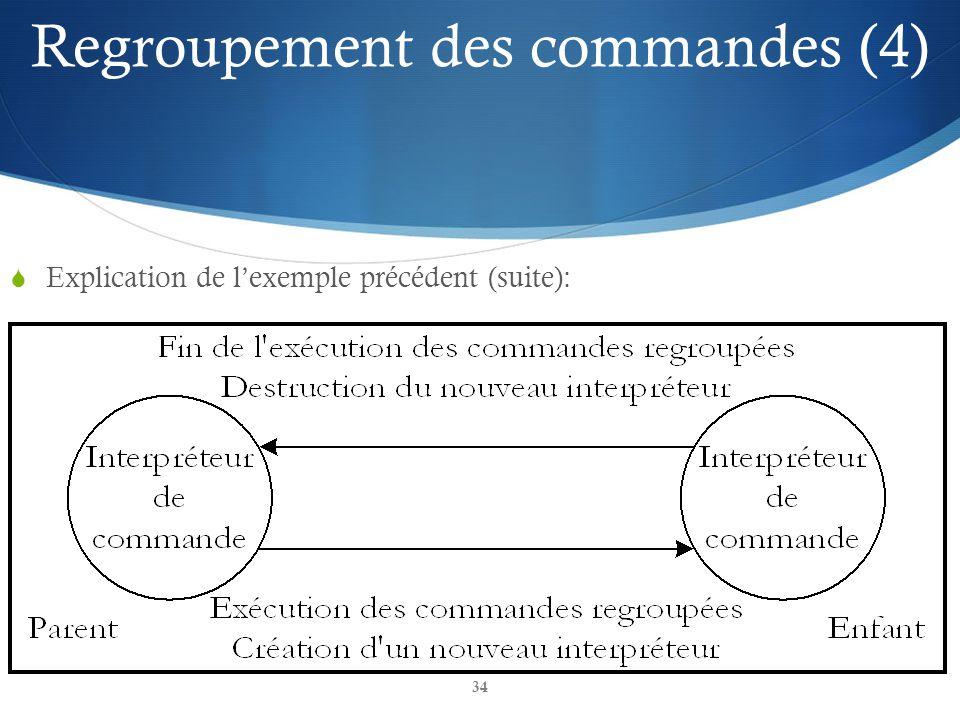 Regroupement des commandes (4)