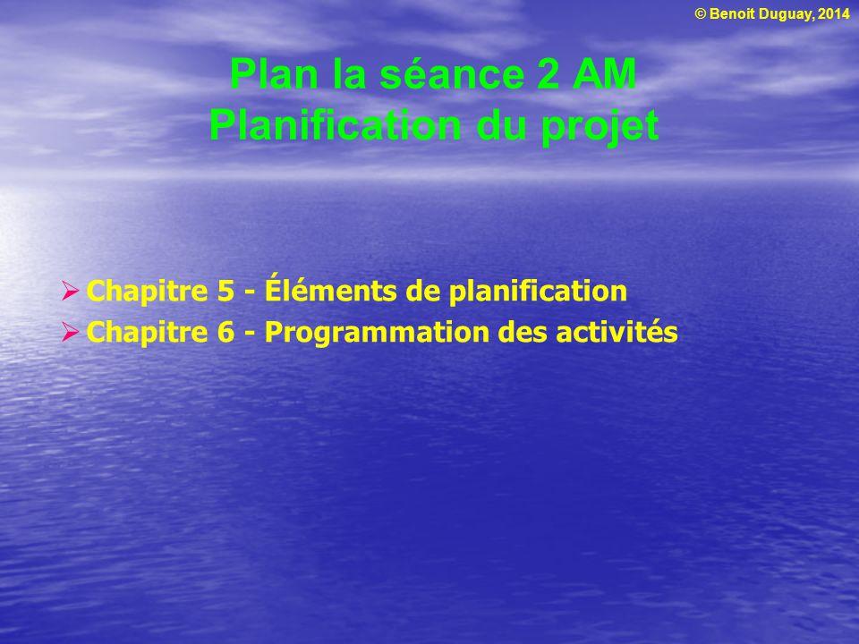 Plan la séance 2 AM Planification du projet