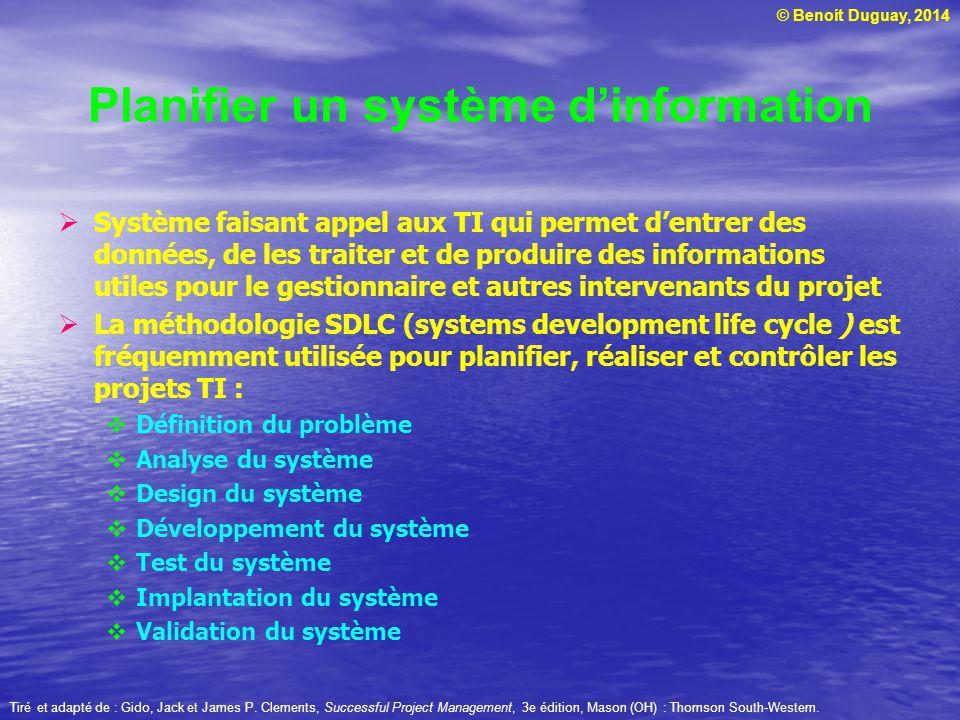 Planifier un système d'information
