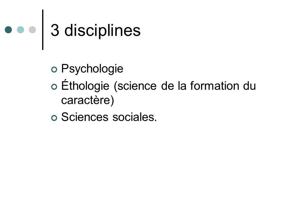 3 disciplines Psychologie