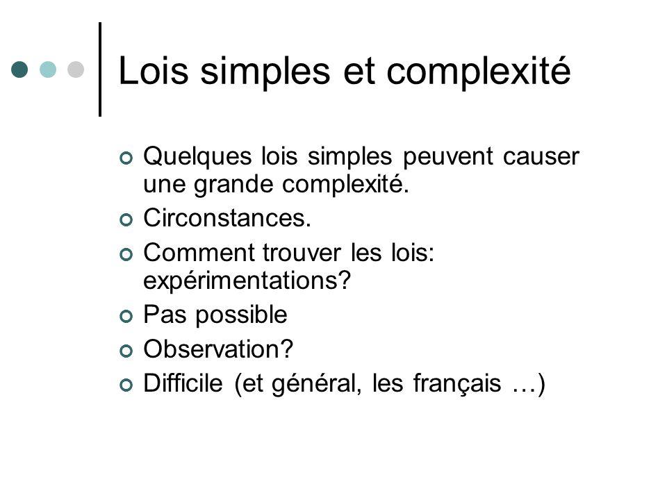 Lois simples et complexité