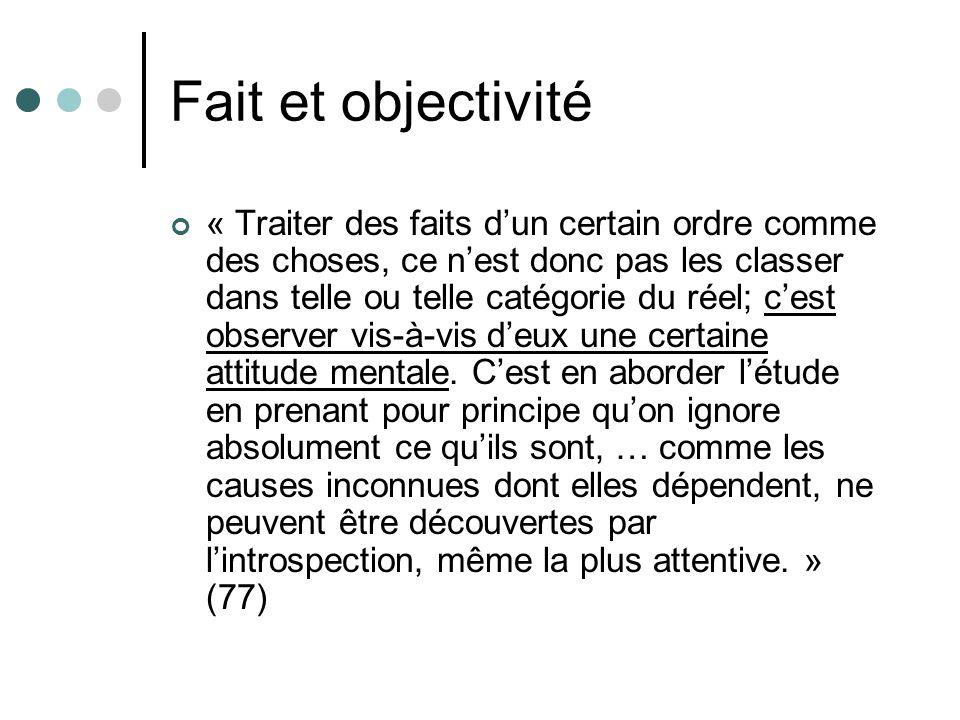 Fait et objectivité