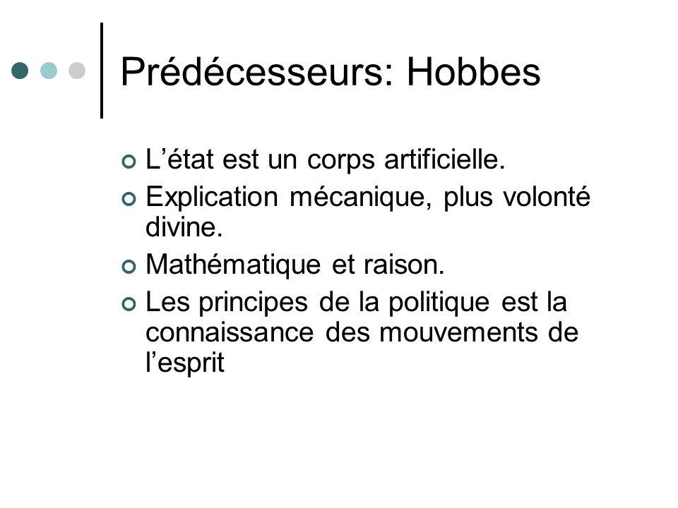 Prédécesseurs: Hobbes