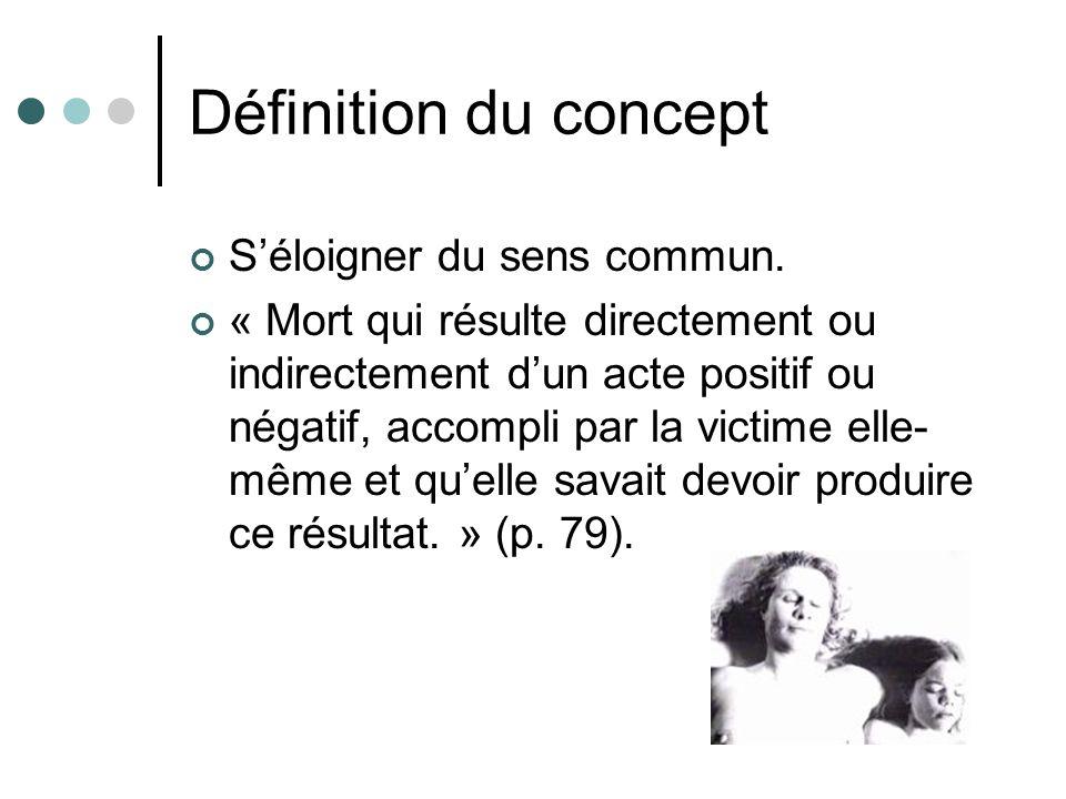 Définition du concept S'éloigner du sens commun.