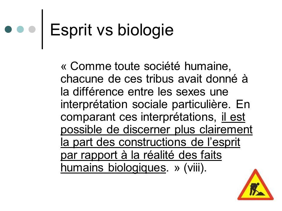 Esprit vs biologie