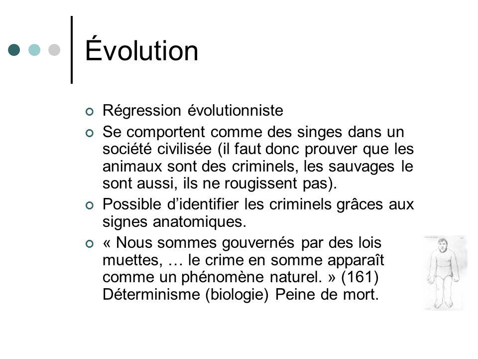 Évolution Régression évolutionniste