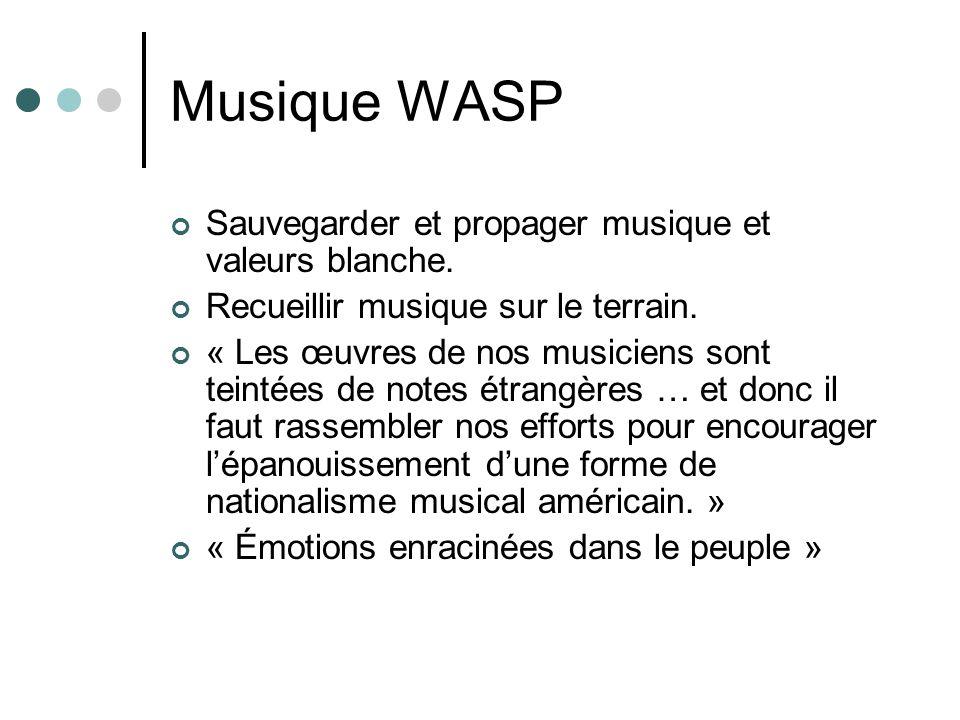 Musique WASP Sauvegarder et propager musique et valeurs blanche.