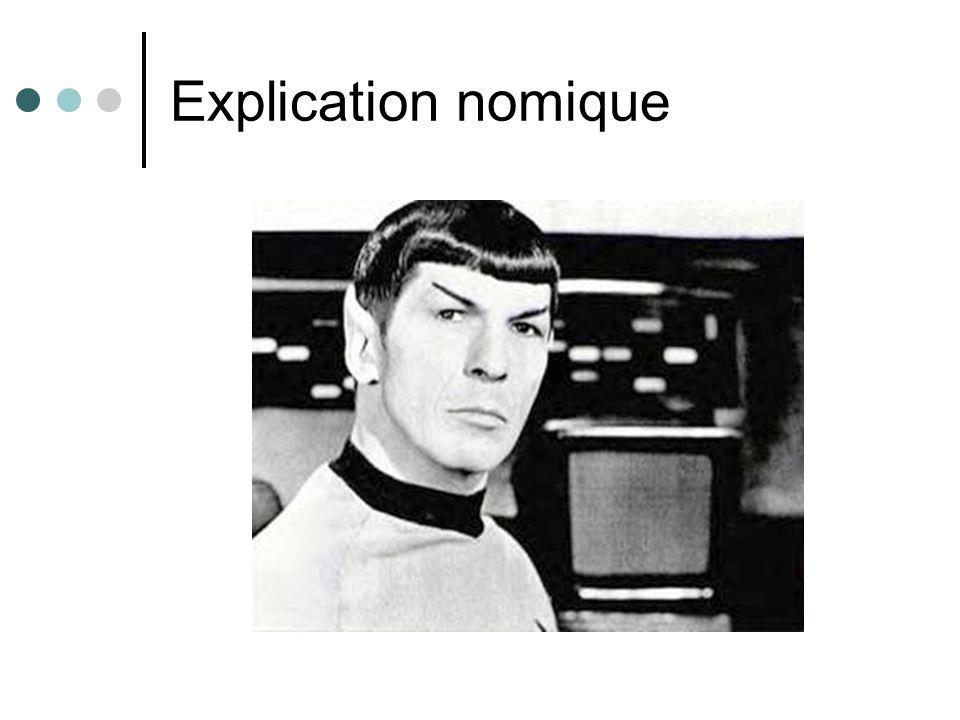 Explication nomique